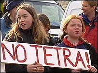 Tetra protestors
