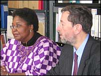 David Blunkett with campaigners against female circumcision