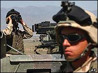 US soldier in Khost, Afghanistan