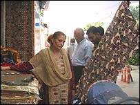 A stall at the Made in Pakistan trade show in Delhi