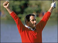 Sam Torrance holed the winning putt in 1985
