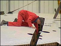 Worker on Concorde's wing