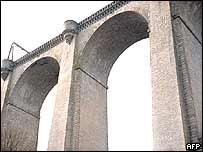 Rocherolles viaduct in Folles near Limoges, France