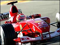 World champion Michael Schumacher in action