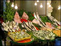 Fish on market stall   BBC