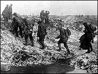 British infantry march in World War One