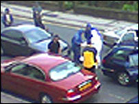 Blackburn arrest scene