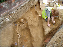 The Litten dig site in Newbury