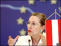 Austrian Foreign Minister Benita Ferrero-Waldner