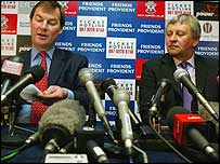 Southampton chairman Rupert Lowe and Paul Sturrock.