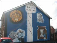 A mural in east Belfast honouring CS Lewis