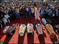 Funeral de las víctimas del incendio en Paraguay