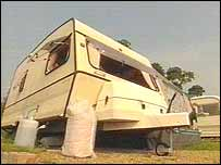 Mrs Pickard's caravan