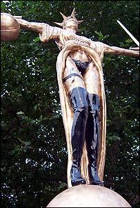 Banksy's justice statue