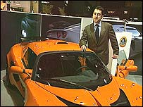 Ansar Ali with the Lotus Exige