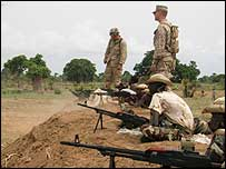 US marines training Chadian troops