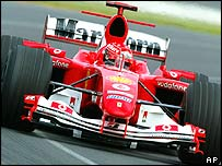 Michael Schumacher in action in Australia