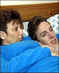 Danny Bond with his mother, Bev Dodds