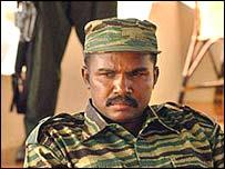 Col Karuna, a  former Tamil Tiger commander in Sri Lanka