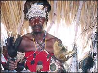 Traditional healer in Zimbabwe's neighbour Mozambique