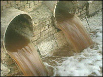 Sewage outfall pipes