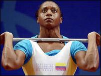 María Isabel Urrutia, medallista colombiana en Sydney 2000