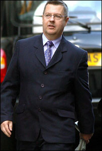 Mr Stevens arriving at the Old Bailey