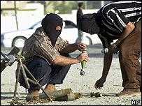 Shia militants in Sadr City, Baghdad