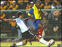 Argentina midfielder Javier Mascherano in action
