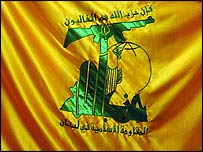 Hezbollah flag (picture taken by Hugh Sykes)