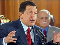 Hugo Chavez speaking on Friday
