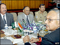 Talks between India and Pakistan delegations