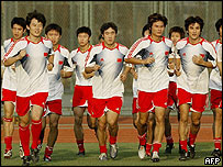 Chinese team in training