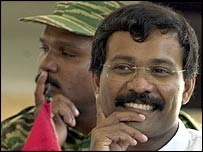 SP Thamilselvan, head of the Tamil Tigers' political wing