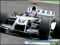 Juan Pablo Montoya in the Williams FW26