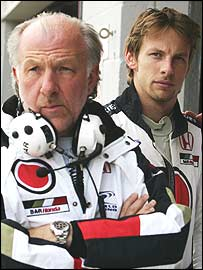 BAR boss David Richards and Jenson Button