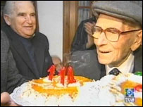 Joan Riudavets Moll's 114 birthday in December 2003