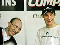 Frank Williams and Jenson Button