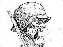 Un militar visto por Quino (Copyright Quino)