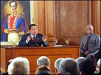 El presidente Hugo Ch�vez.