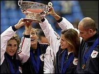 Mauresmo helped France beat the USA to win the 2003 Fed Cup