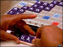 File picture of someone playing Scrabble