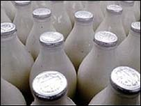 Image of milk bottles