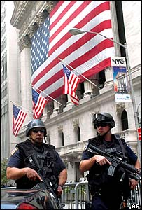 Armed officers in New York