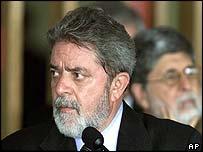 Luiz Inácio Lula da Silva, presidente de Brasil.