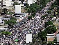 Marchers in Caracas