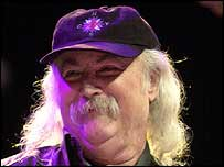 David Crosby, pictured here at a concert in Feb 2002