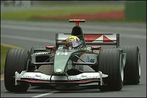Mark Webber in the Jaguar