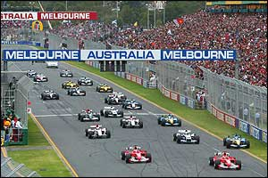 The start of the Australian Grand Prix