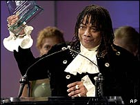 Rick James was pictured at an award ceremony in June